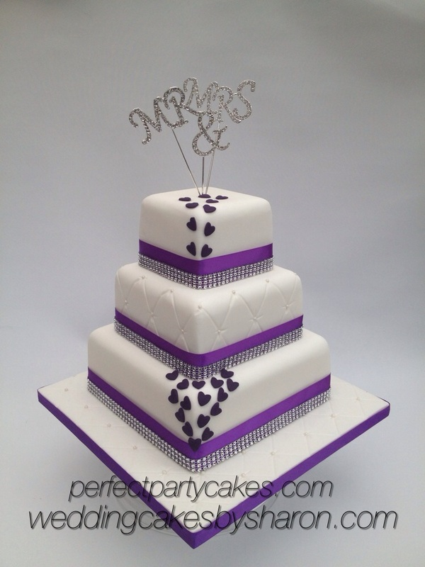 Square  Tiered Wedding Cakes
